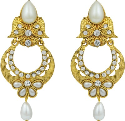 Pankh Beads Studded Brass Chandbali Earring