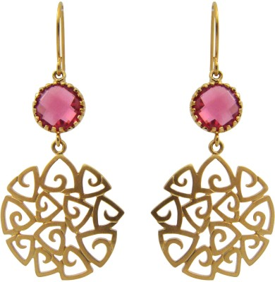 Oumya Jewels Crystal Brass Drop Earring
