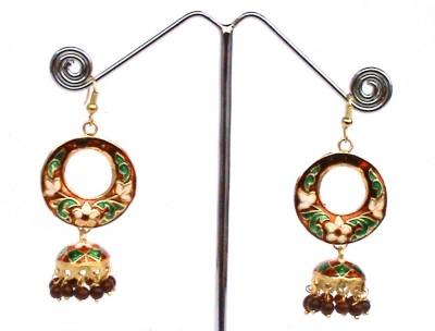 Ultimate Fashion Minakari Round Jhumki Alloy Dangle Earring