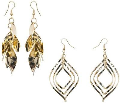 Mitthi Jewels Golden Party Wear Metal Earring Set