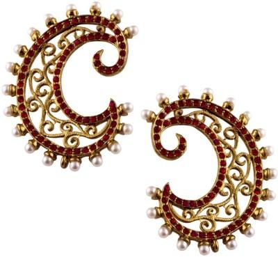 Jahnvi Curve Gold Metal Cuff Earring