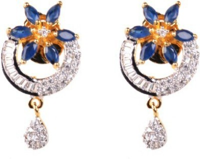 Dipshi Modern Style Flower Design A D Stone Traditional For Copper Drop Earring