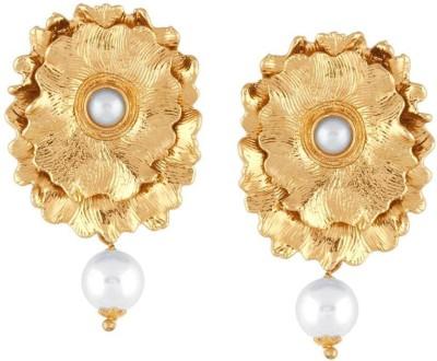 Kashvi Designer Pearl Brass Dangle Earring