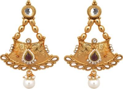 Womaniya golden long Alloy Drop Earring