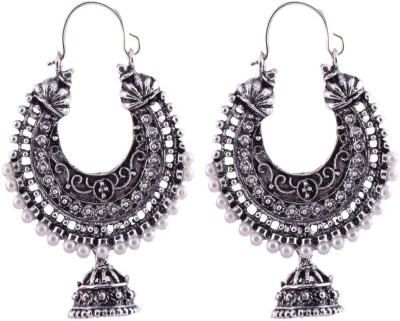 Crazytowear Antique Oxidised Alloy Hoop Earring