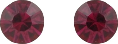 Diovanni Pink Paisely In Paradise Crystal Stud Earring