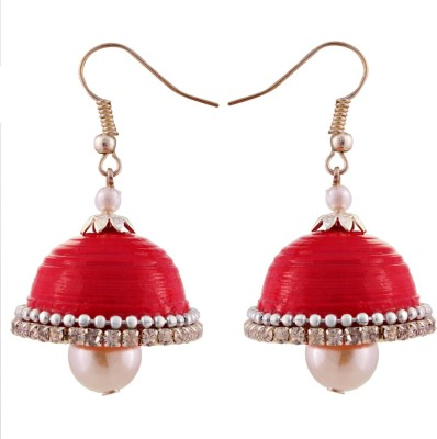 Tamira Hancrafted Red Hook Jhumka Alloy Jhumki Earring