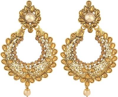 Prita Designer Floral Alloy Chandbali Earring