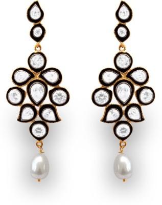 SuvidhaArts Designer Fashion Cubic Zirconia Metal Drop Earring