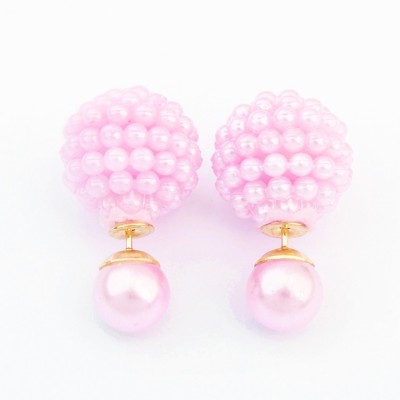 Cilver Fashion Trendy Celebrity Inspired Double Faced Alloy Drop Earring
