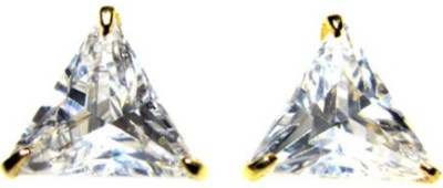 Vanity Roots Triangle Glaze Crystal Alloy Stud Earring