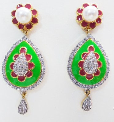 Marwadi Spring Sparkle Alloy Drop Earring