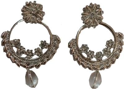 modifier silver alloy Crystal Alloy Drop Earring