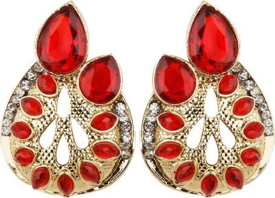 Radius Gorgeous Red Zircon Metal Stud Earring