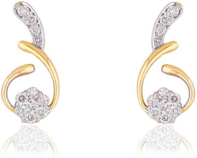 Jewels Choice Awesome Designer Diamond Gold Stud Earring