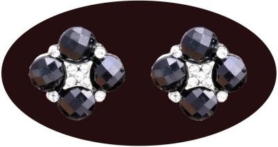 Indian Cheez Black 4 Stone Earrings Metal Earring Set