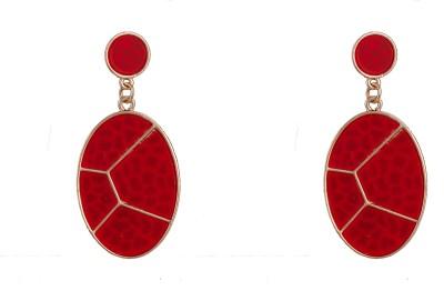R18Jewels-Fashion&U Ravishing RED_Gold Metal Drop Earring