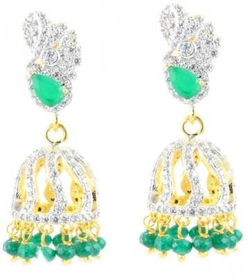 SuperShine jewelry Spring Sparkle Brass Jhumki Earring