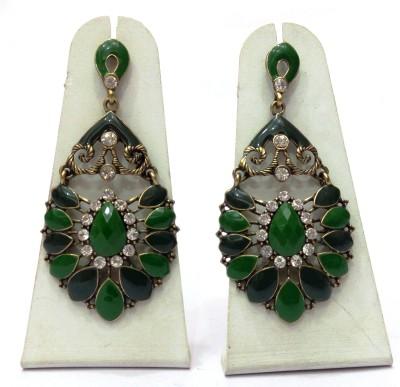 Womaniya green beauty Alloy Chandelier Earring