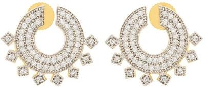 Apollodiamonds Earing Cubic Zirconia Alloy Stud Earring