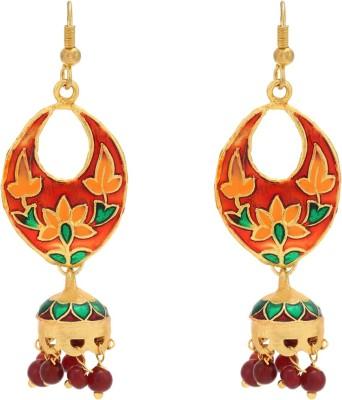 Happy States Leafy Metal Jhumki Earring