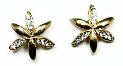 Kanishq 24K GOLD PLATED Alloy Plug Earring, Stud Earring