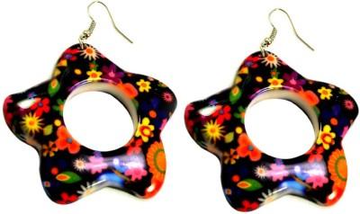 Krishna Mart A Pair Of Indian Resin Flower Earrings Fashion Jewelry Resin Dangle Earring