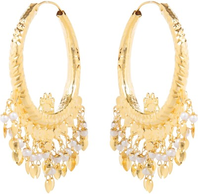 Sir Michele Spring Sparkle Metal Chandbali Earring