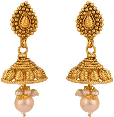 Rajwada Arts Traditional Style Brass Jhumki Earring