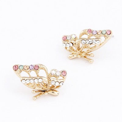 Cilver Fashion Simple 3d Butterfly Alloy Stud Earring