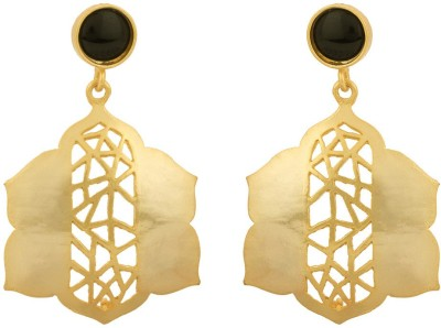 Rajwada Arts Contemporary Design Brass Drop Earring