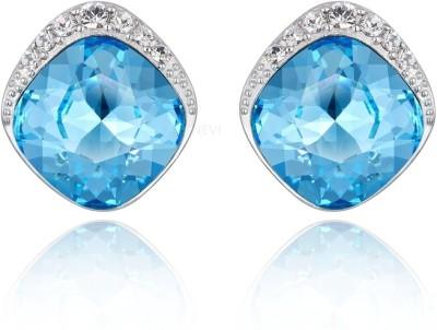 Nevi Blue Crystal, Swarovski Crystal Metal, Crystal, Brass Stud Earring