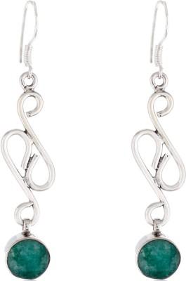 Aarohee Green Elegance Onyx Sterling Silver Dangle Earring