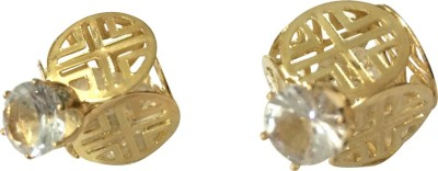 Gliteri Crystal And Cube Double Trouble Alloy Plug Earring