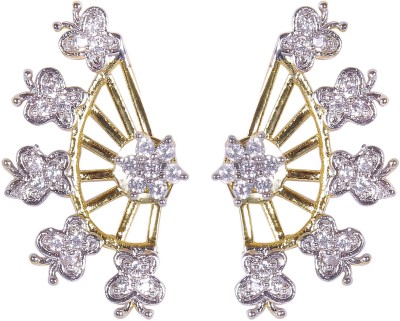 Muchmore Butterfuly Design Cubic Zirconia Alloy Cuff Earring
