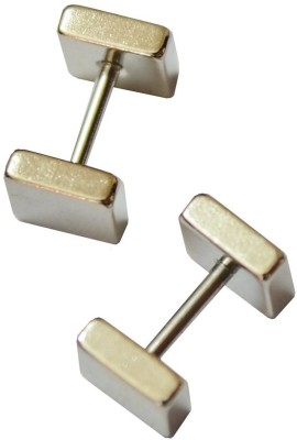 GemRoute Barbell Stainless Steel Stud Earring