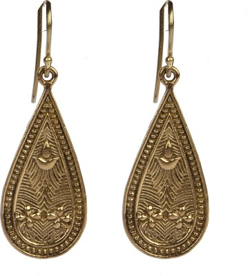 Divitha Allure Golden carved atique teardrops from Divitha Allure. Alloy Drop Earring