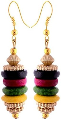 Gliteri multicolour hanging Wood Dangle Earring