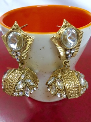 Creativityxchange Antique Gold Style Jhumka by CreativityXChange Metal Jhumki Earring