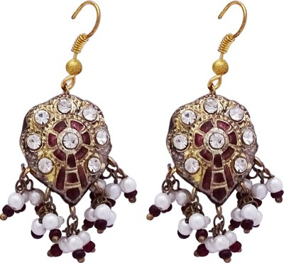 Gems N Pearls Traditional Rajasthani Lac Dangle Earring