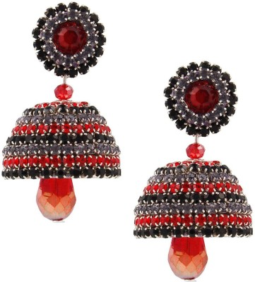 Tamira Traditional Handcrafted Fancy Artifcial Diamond Chain Jhumka Alloy Jhumki Earring