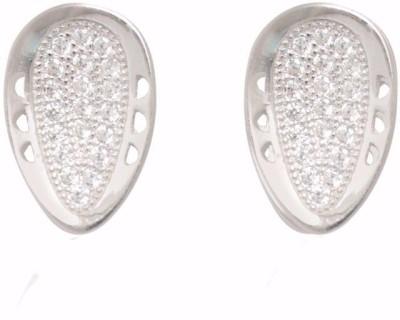 TUAN elegant casual & western wear Cubic Zirconia Sterling Silver Stud Earring