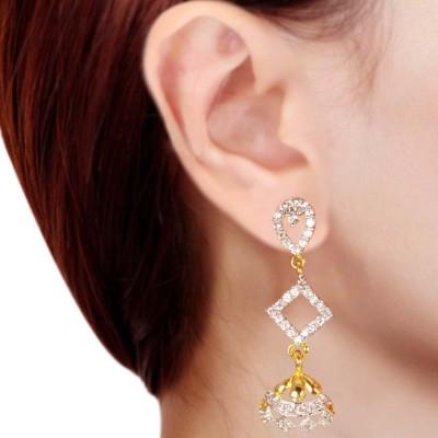 Prisha PPIPLCZER64 Zircon Copper Dangle Earring