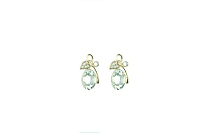 Vanity Roots Floral Fun Crystal Alloy Stud Earring
