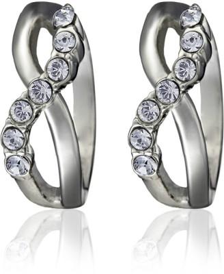 Eclat 514320R Swarovski Crystal Alloy, Brass Huggie Earring