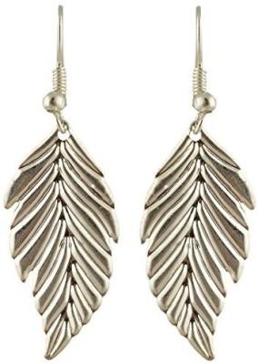 TrinketsANDTreasures Silver Leaf Alloy Dangle Earring