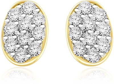 Sparkles Dainty Diamond Yellow Gold 18kt Diamond Stud Earring