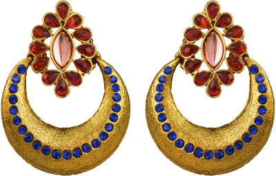 Graykart Bollywood South Indian Stylish Gold Plated Beautiful Ethnic Designer Alloy, Zinc Chandbali Earring