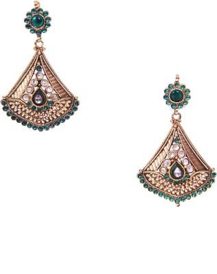 Traditsiya Kundan Beads Alloy Drop Earring
