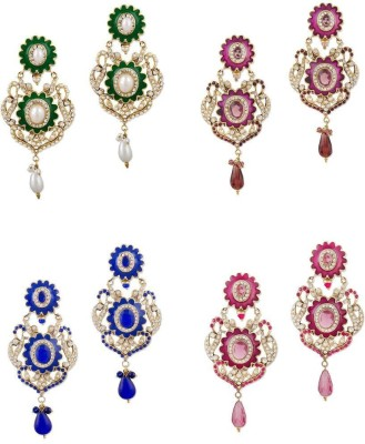 Buyclues RCCJ3417 Crystal Brass Earring Set